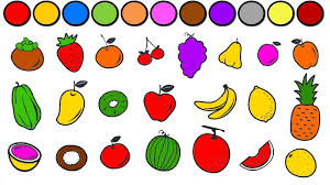 vegetables coloring game and learning fruits for children funny