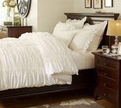 Pottery Barn College Bedding Pottery Barn Ruched White Duvet Or Comforter New Pottery Barn