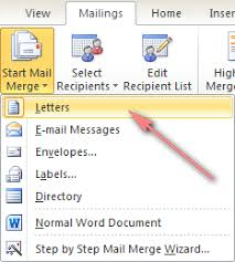Excel Mail Merge Template How To Mail Merge From Excel To Word