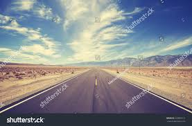 vintage style country highway usa travel stock photo 325085111