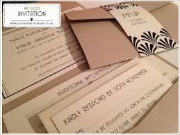 art deco range bespoke wedding stationery save the date
