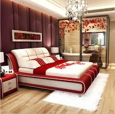 Black Leather Platform Bed Beds Modern Leather Corner Sofa Bed Red White Faux Frame Francis