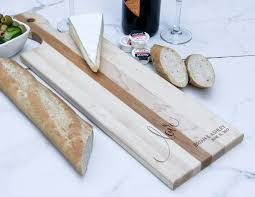 personalized bread board customized cheese board maple paddle
