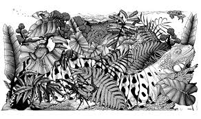 difficult jungle animals animals coloring pages for adults