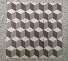 inspired by the works of m c escher cubic encaustic tessellated