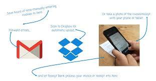 dropbox xero bill processing with receipt bank caseron cloud accounting
