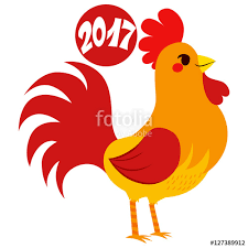 2017 rooster zodiac sign design with text celebrating