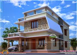 nice modern house with free floor plan kerala home design and
