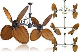 twin star ii ceiling fan 50 inch double twin star ceiling fan with abor 950 oak blades