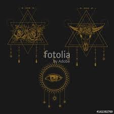 all seeing eye symbol sacred geometry third eye buffalo skull