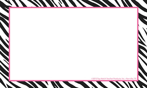 zebra print border template free download clip art free clip