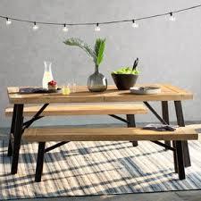 Wood Patio Furniture Sets Wood Patio Dining Sets You U0027ll Love Wayfair