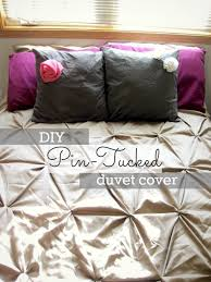 Pinched Duvet Cover Beginner Beans How To Diy Pin Tucked Duvet I Did It Myself