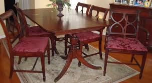 dining room best duncan phyfe oval dining table with mid century