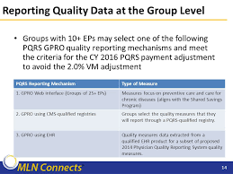 pqrs registries the cms value based payment modifier ppt