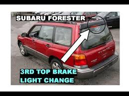 subaru forester tail light bulb how to change replace rear top 3rd third brake light bulb subaru