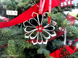 recycled card ornaments diy inspired