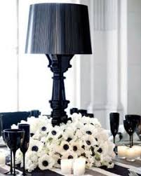 Black And White Centerpieces For Weddings by Black And White Party Ideas Wedding Table Setting Entertaining