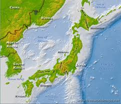 Mountain Ranges World Map by Japan Physical Map