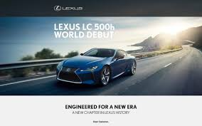 lexus brand launch lexus monthly newsletter emails from lexus uk