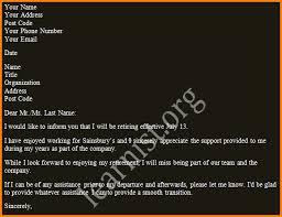 7 sample resignation letter retirement audit letters