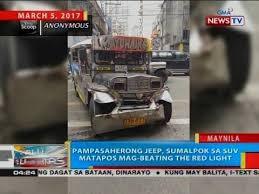 beating the red light pasaherong jeep sumalpok sa suv matapos mag beating the red