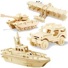 3d jigsaw wooden puzzles diy woodcraft handmade learning