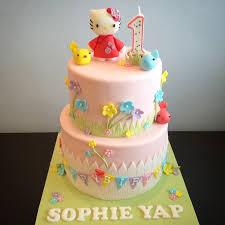 hello kitty garden cake cookies and macarons crissa u0027s cake corner