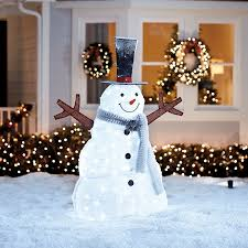 Grapevine Snowman For Outdoors by Shop Outdoor Christmas Decorations At Lowes Com