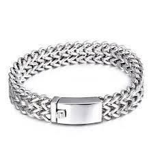 solid stainless steel bracelet images 2018 12mm 18mm wide cool mesh bracelet men fashion never fade jpg