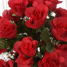 silk roses 96 large silk roses buds bushes wedding flowers arrangements