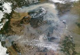 Western Us Wildfires 2015 by U S Air Quality Smoke Covers Most Of Western And Central U S