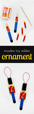 wooden soldier ornament