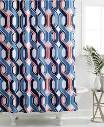 Coral And Navy Curtains Excellent Decoration Navy And Coral Shower Curtain Appealing Buy