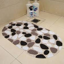 pvc non slip bath mats pebble shower anti slip bathroom carpet