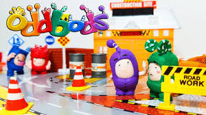 learn colors u0026 tools with oddbods u0026 construction site toys set