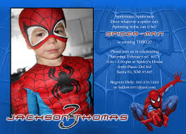 Invitation Card 7th Birthday Boy Spiderman Birthday Invitations Plumegiant Com