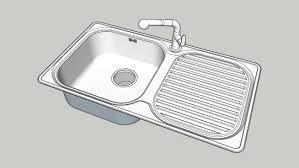 kitchen sink model kitchen sink 3d warehouse