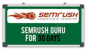 get semrush guru for 30 days private account cheapest pric