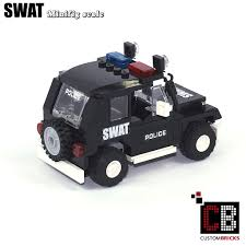 police jeep toy custombricks de custom modell moc city swat special order