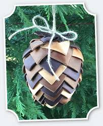 offray ribbon pinecone ornament