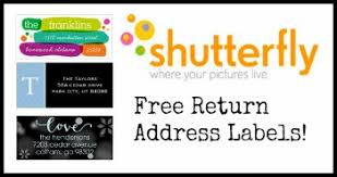 shutterfly free return address labels southern savers