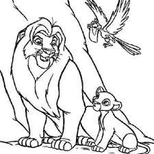 mufasa protecting simba scar lion king coloring