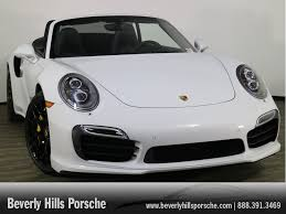 white porsche 911 convertible certified pre owned 2016 porsche 911 turbo s cabriolet leather