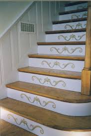 Remodeling Basement Stairs by Decorating A Staircase Basement Stair Staircases And Stenciling