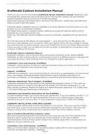 how to install kraftmaid base cabinets kraftmaid cabinet installation manual