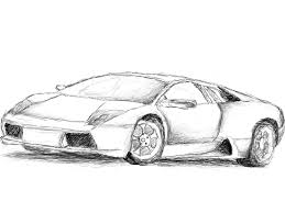lamborghini sketch side view lamborghini huracan drawing step by step how to draw a