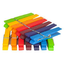 amazon com grimm u0027s rainbow of wooden colored clothespins for
