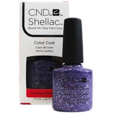 cnd shellac starstruck power gel polish alluring amethyst 7 3ml