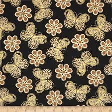 metallic lace butterflies and flowers metallic black gold
